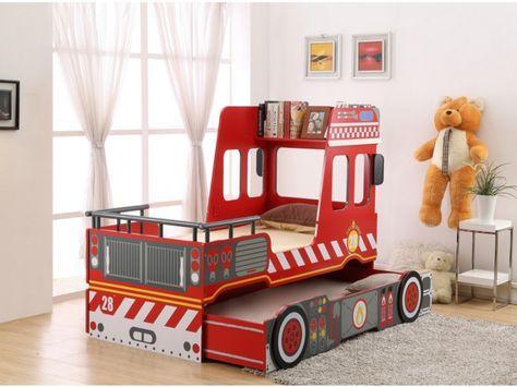 Votre bambin rêve de devenir pompier? Offrez-lui le lit gigogne SAPEUR!
