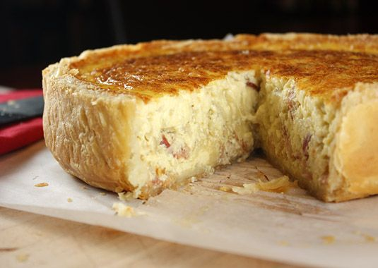 Classic Quiche Lorraine and the perfect pie crust.