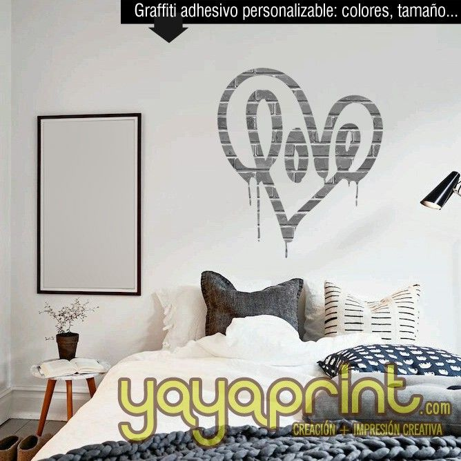 M s de 20 ideas incre bles sobre graffitis nombres en for Vinilo habitacion juvenil