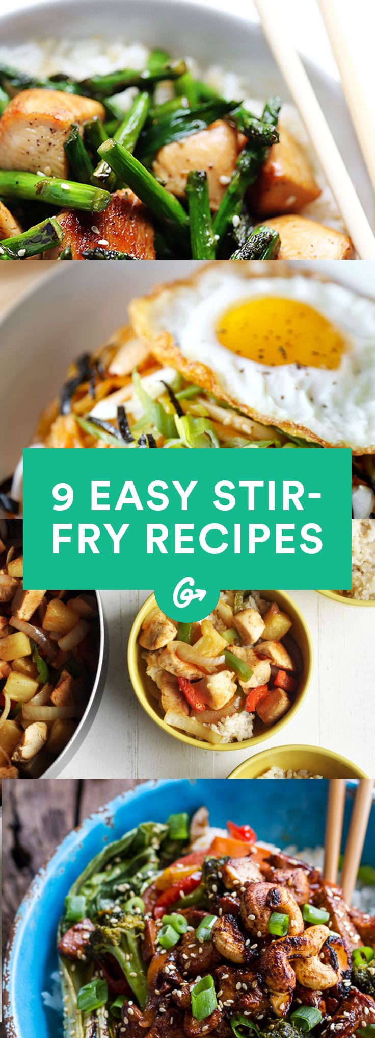 All go from pan to plate in 30 minutes or less. #stirfry #healthyrecipes #recipes #dinner http://greatist.com/eat/easy-stir-fry-recipes