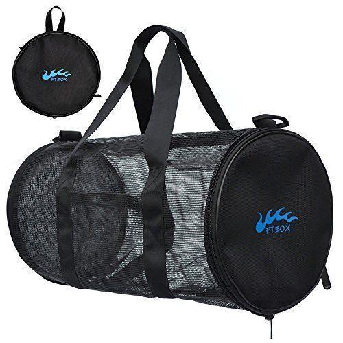 Dive Bag - Mesh Duffle Bag for Scuba Diving, Snorkeling, Swimming, Beach and Outdoor Sports Equipment Foldable Dive Gear Bag with Features Exterior Waterproof Pocket and Adjustable Shoulder Strap - http://scuba.megainfohouse.com/dive-bag-mesh-duffle-bag-for-scuba-diving-snorkeling-swimming-beach-and-outdoor-sports-equipment-foldable-dive-gear-bag-with-features-exterior-waterproof-pocket-and-adjustable-shoulder-strap/ #scubadivingequipmentgears #scubadivinggear