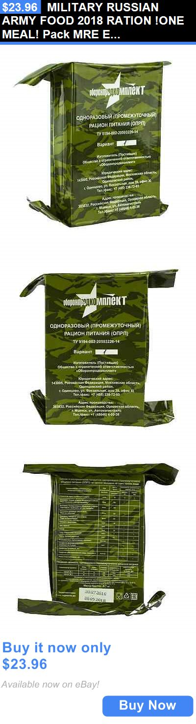 Food And Drink: Military Russian Army Food 2018 Ration !One Meal! Pack Mre Emergency Ration! BUY IT NOW ONLY: $23.96