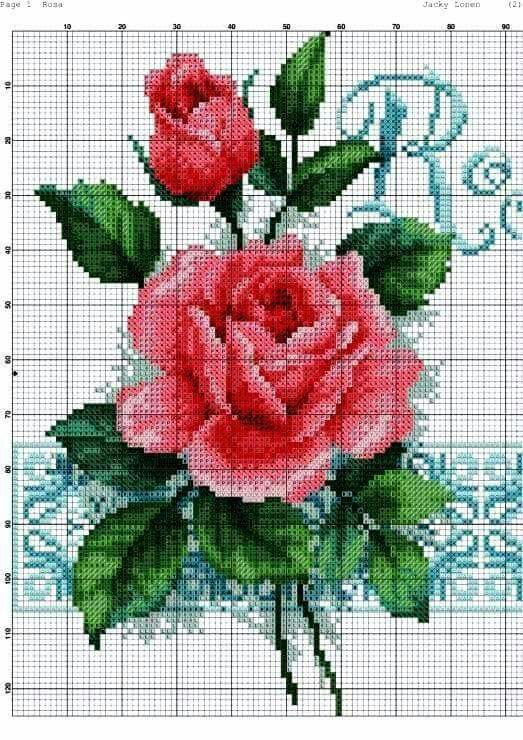 Pin de Larissa Souza en Cross Stitch | Cross stitch rose ...
