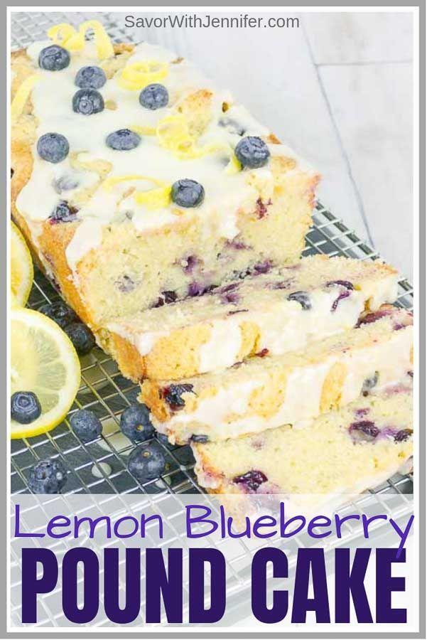 Blueberry Lemon Sour Cream Pound Cake Recipe Sour Cream Pound Cake Lemon Blueberry Pound Cake Blueberry Pound Cake