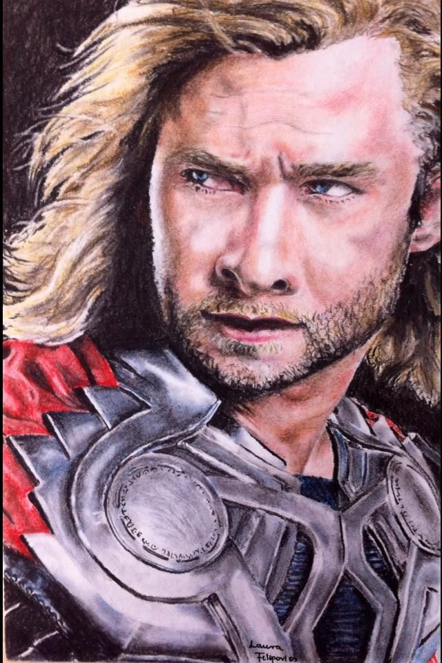 Thor. I used pastel pencils from Derwent