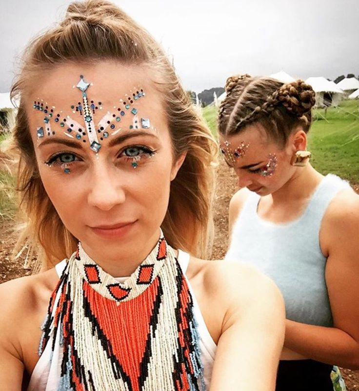 Festival jewels and face paint