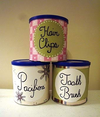 I am going to make one of these today for all of our fish food and other fishy items.  So much cuter than the old sour cream container I'm currently using.