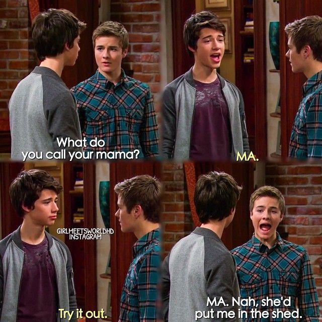 "#GirlMeetsWorld 1x17 ""Girl Meets Game Night"" - Josh and Lucas"