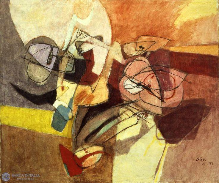 Afro Libio Basaldella (Italie, 1912-1976) – Agosto in Friuli (1952) Collezione d'arte Banca d'Italia