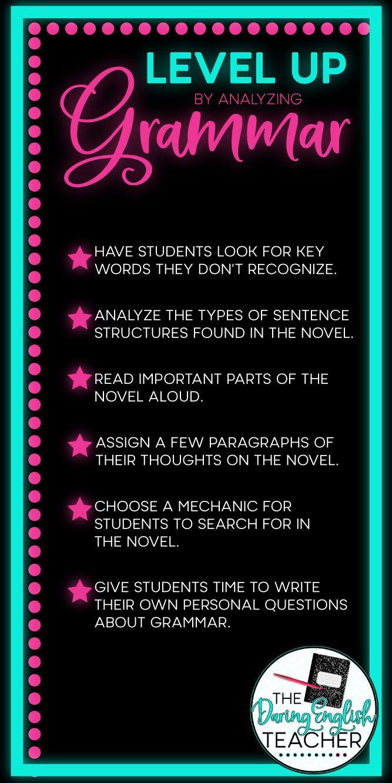 Level Up By Analyzing Grammar | Blog Posts | English