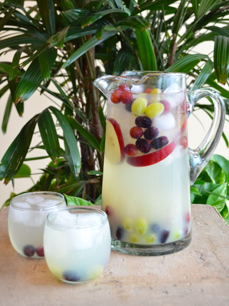 A lighter sangria recipe, Nolet's Silver Sangria mixes the gin and white wine with grapes and apples for a refreshing new punch to share.