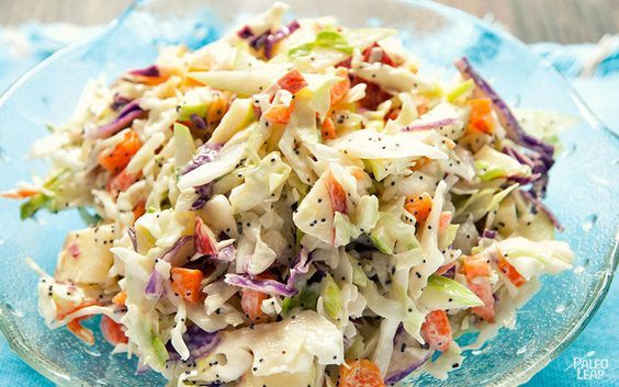 Coleslaw With Apples and Poppy Seeds