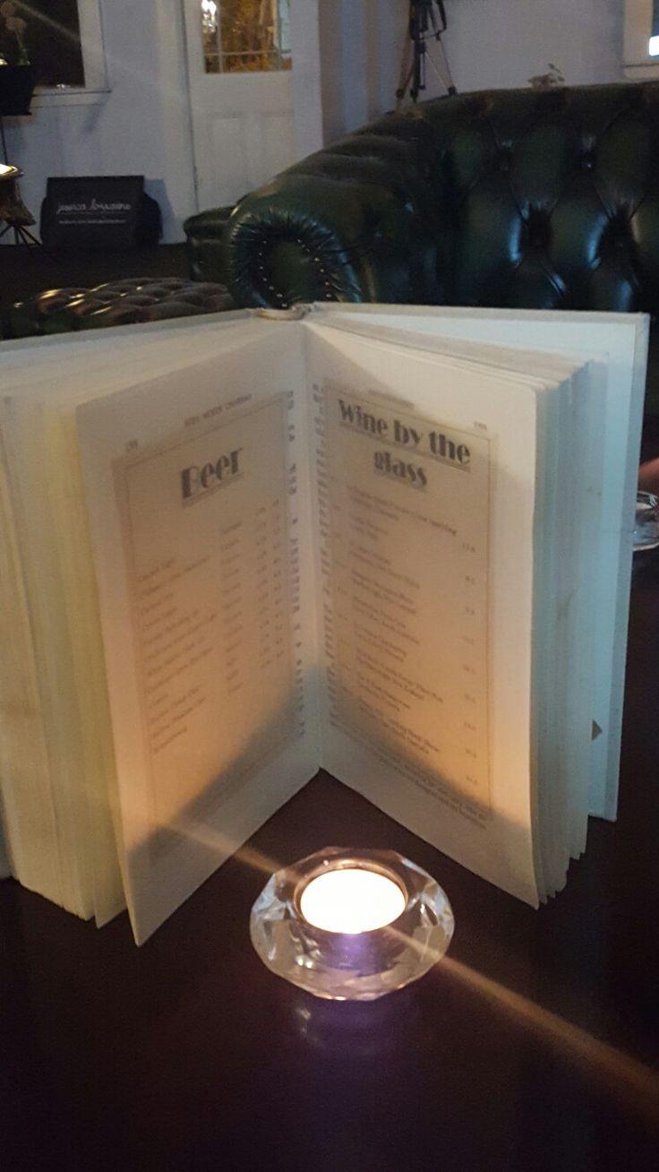 Book menus