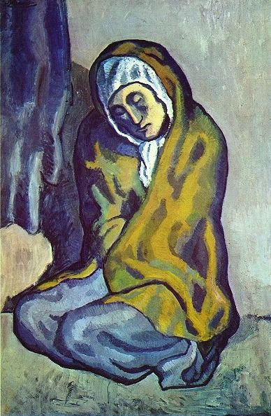 Pablo Picasso, crouching begger -1902 on ArtStack #pablo-picasso #art