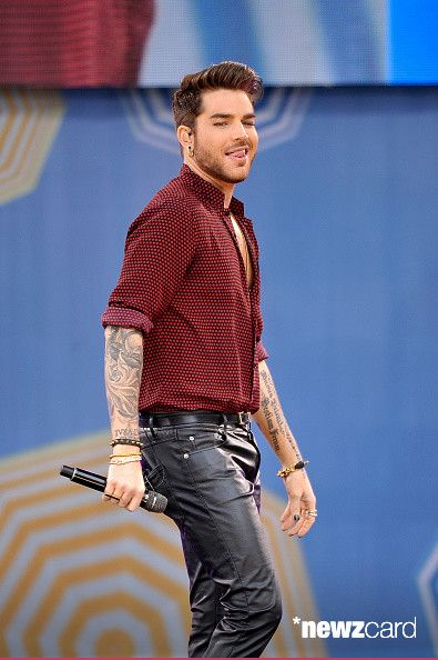Adam Lambert performs on ABC's 'Good Morning America' at Rumsey Playfield, Central Park on June 19, 2015 in New York City. (Photo by D Dipasupil/FilmMagic)