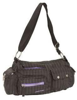 Dakine organizer purse with purple pinstripes
