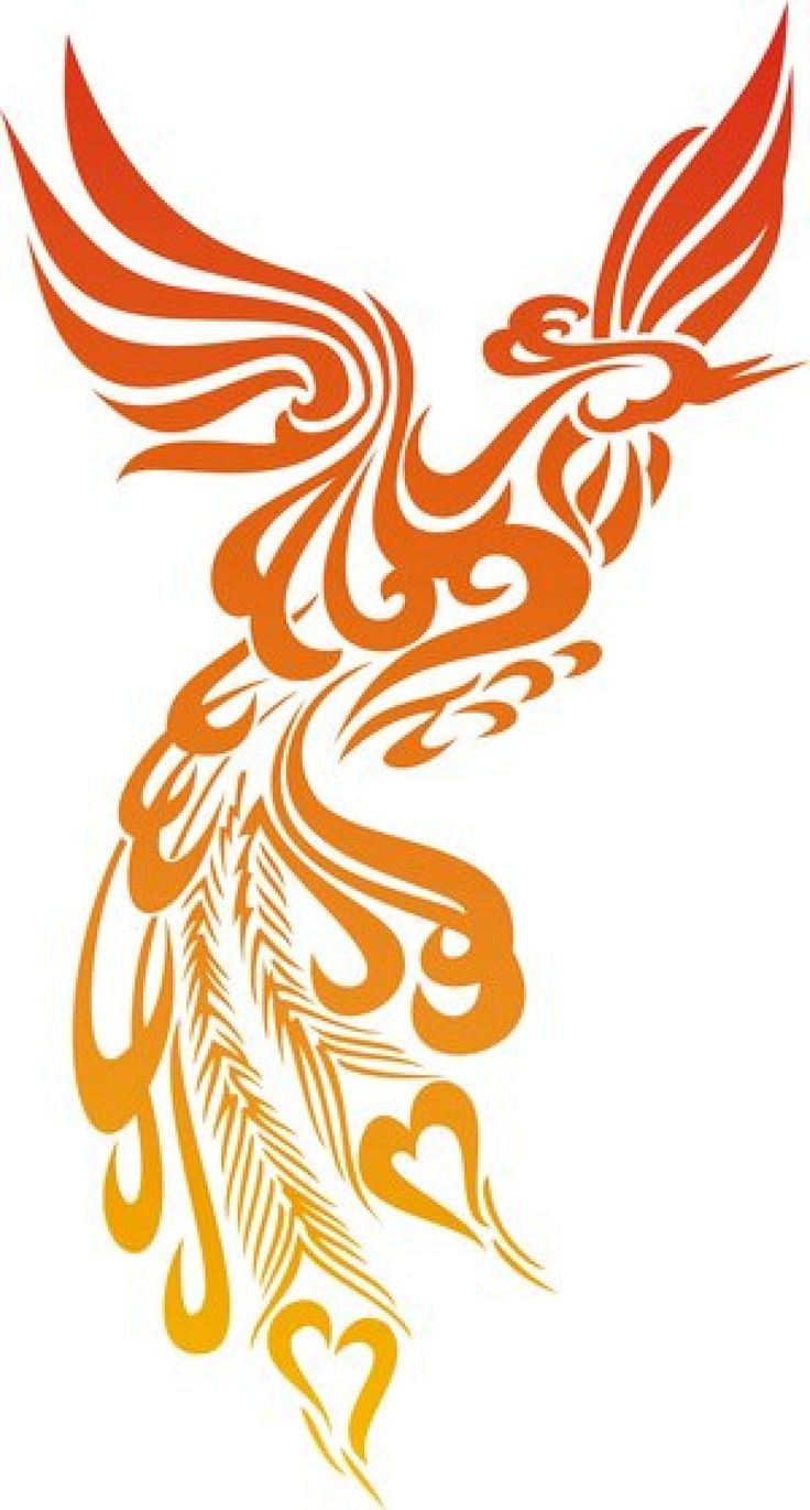 Colorful phoenix tattoo designs - Tribal Phoenix Tattoo Design In Fire Colors