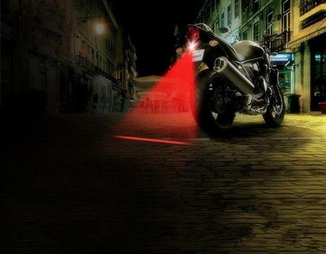 Sepeda motor Auto anti-tabrakan Laser lampu belakang, Fog lamp, Mobil Anti - kabut parkir berhenti ekor mobil rem dipimpin lampu peringatan, Styling mobil
