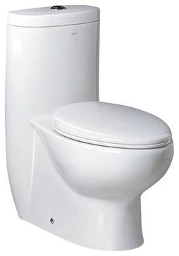 Fresca Delphinus One-Piece Dual Flush Toilet w/ Soft Close Seat transitional-toilets