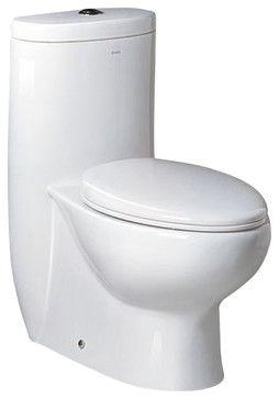 Fresca Delphinus One-Piece Dual Flush Toilet w/ Soft Close Seat transitional-toilets