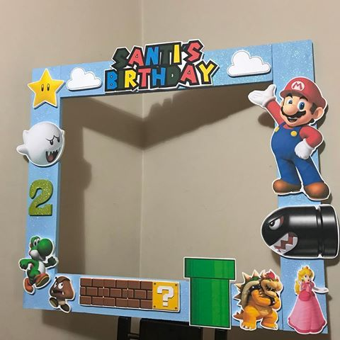 Super mario photo booth frame prop