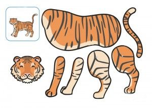 tiger cut and paste printables