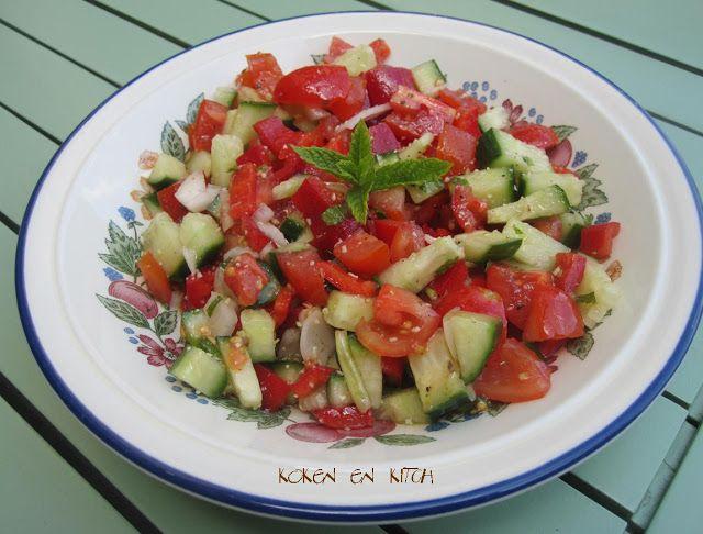 Koken en Kitch: Salade van komkommer en tomaat