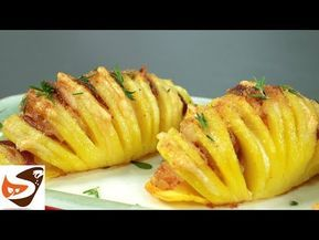 """Patate al forno """"a fisarmonica"""", dorate e croccanti! Patate Hasselback – Contorni - YouTube"""