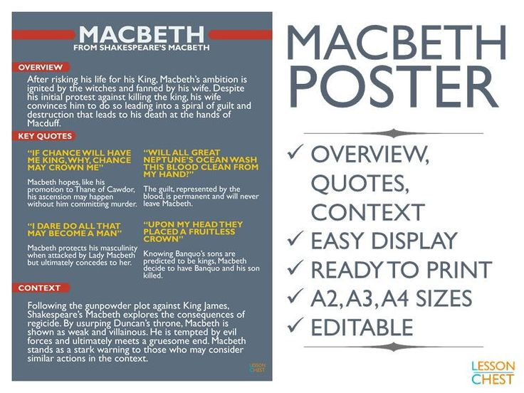 macbeth key quotations analysis Here are 10 most famous quotations from this dark and powerful play  this line is among the most important in macbeth and can be.