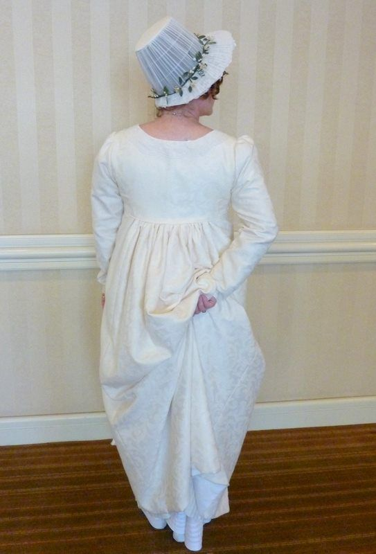 Gina White and her fabulous Elizabeth Bennet wedding dress wedgie!