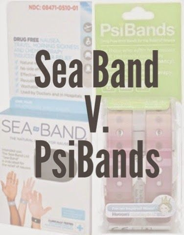Sea Band V. PsiBands -- one women's experience with two products designed to help with nausea. (One seemed to work, one seemed to just hurt.)