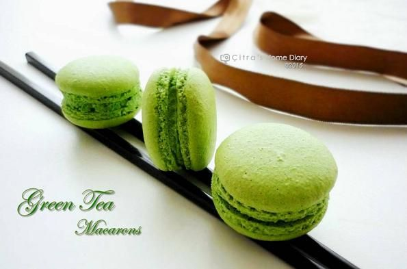 Citra's Home Diary: Green Tea Macarons with Green Tea Chocolate filling recipe