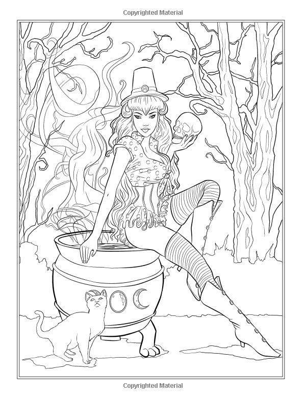 dark fantasy coloring pages - photo#32