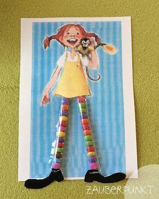*ZAUBERPUNKT*: Pippi Langstrumpfs bunte Socken { DIY - auch für Kinder - mit Schokolinsen }