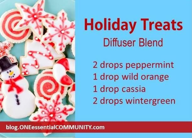 Holiday Treats diffuser blend PLUS 40 more Christmas essential oil diffuser recipes