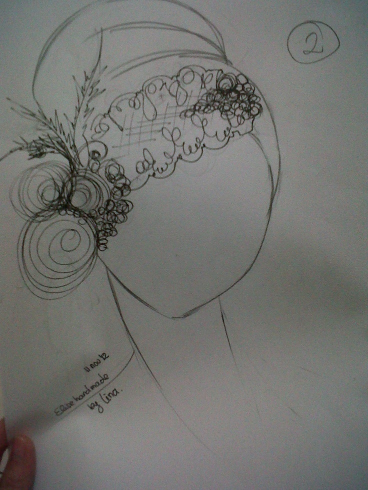 this sketch headpiece made by me :)