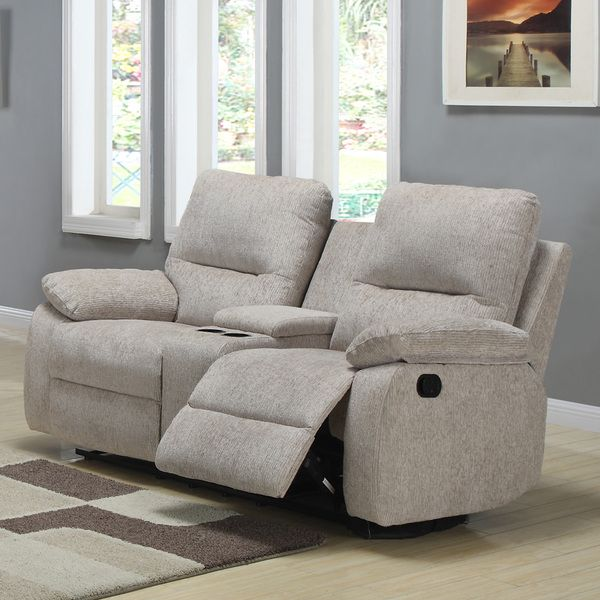 This Stylish Recliner Loveseat Showcases An Attractive Light Beige Color  Scheme That Makes A Handsome Complement For Any Modern Decor.