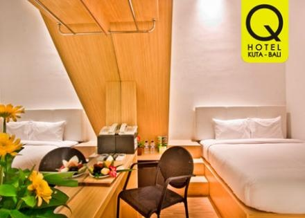 [50%] Have a Great Holiday at Q Hotel Bali Only Rp.350.000 + include : breakfast 2 person (Normal Rp.700.000)