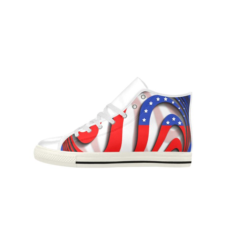 Flag of United States of America Aquila High Top Action Leather Men