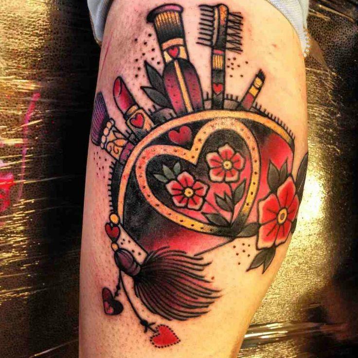 makeup artist tattoo ideas - photo #30