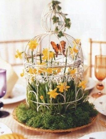 kwiaty - aranżacja na Wielkanoc