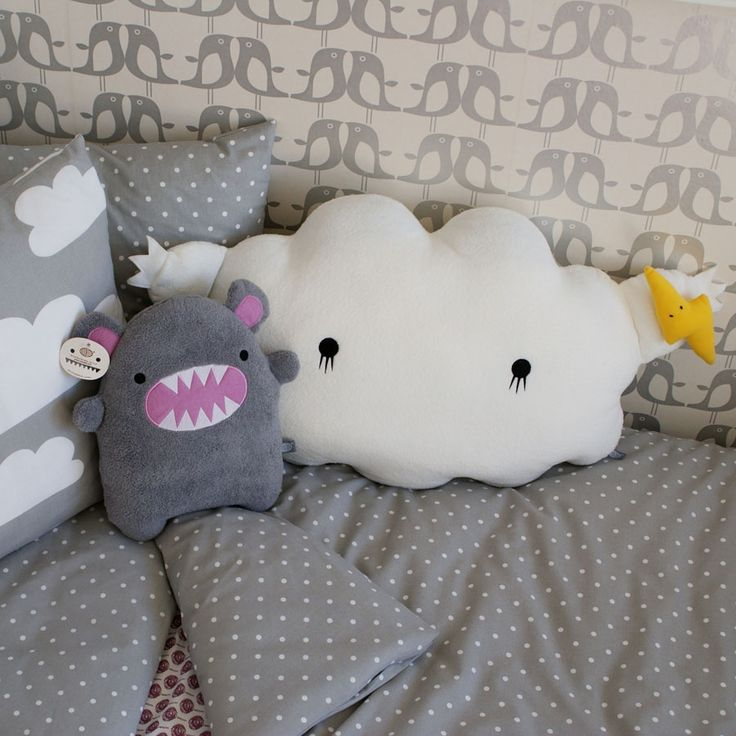 The Modern Baby - Noodoll Giant Ricestorm Cloud Cushion - White