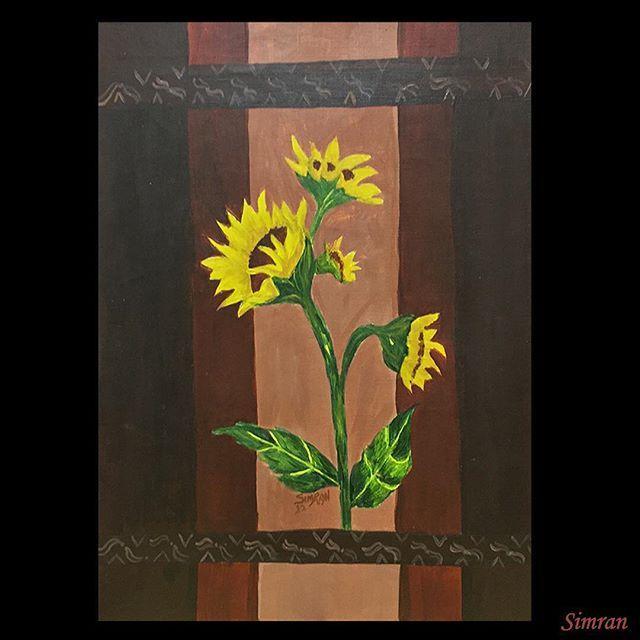 #flowers #nature #acylic #stilllife #sunflower