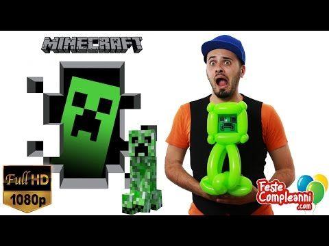 Minecraft Creeper Balloon - Palloncini Modellabili - Creeper Minecraft - Scultura con Palloncini - Nel video di oggi vedremo come creare una scultura con i palloncini a forma di Creeper, il mostro del videogioco Minecraft.
