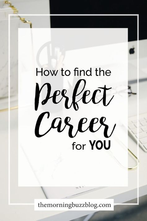 How To Find The Perfect Career For You Work Pinterest Career