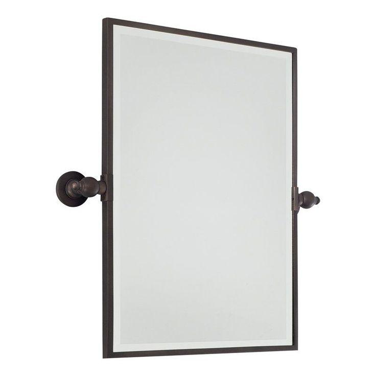 Minka Lavery 1440 Standard Rectangle Pivoting Bathroom Mirror Dark Brushed Bronze Home Decor Mirrors Lighting