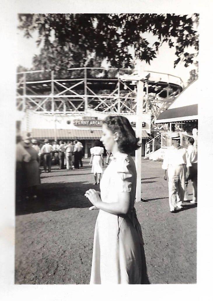 "Vintage Snapshot ""Penny Arcade"" Woman Profile Roller Coaster Amusement Park Found Vernacular Photo by SunshineVintagePhoto on Etsy https://www.etsy.com/listing/534472758/vintage-snapshot-penny-arcade-woman"