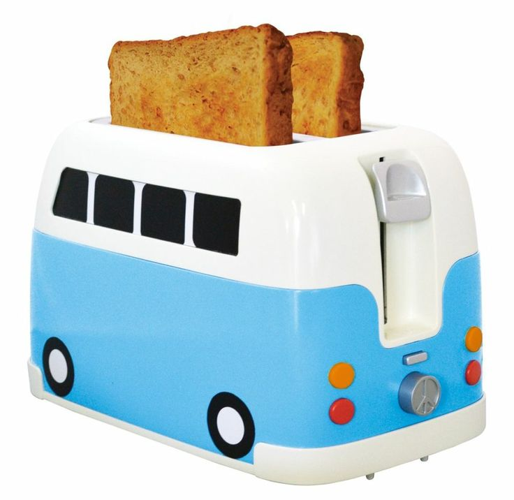 Retro VW Camper Van Classic Toaster Mini Vintage Kitchen Toasting Accessory