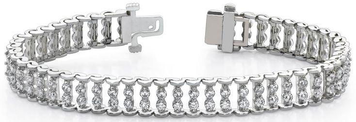 Diamantarmband mit 3.00 Karat Diamanten aus 585er Weißgold bei www.diamantring.be für nur 4750.00 Euro Versandkostenfrei bestellen.