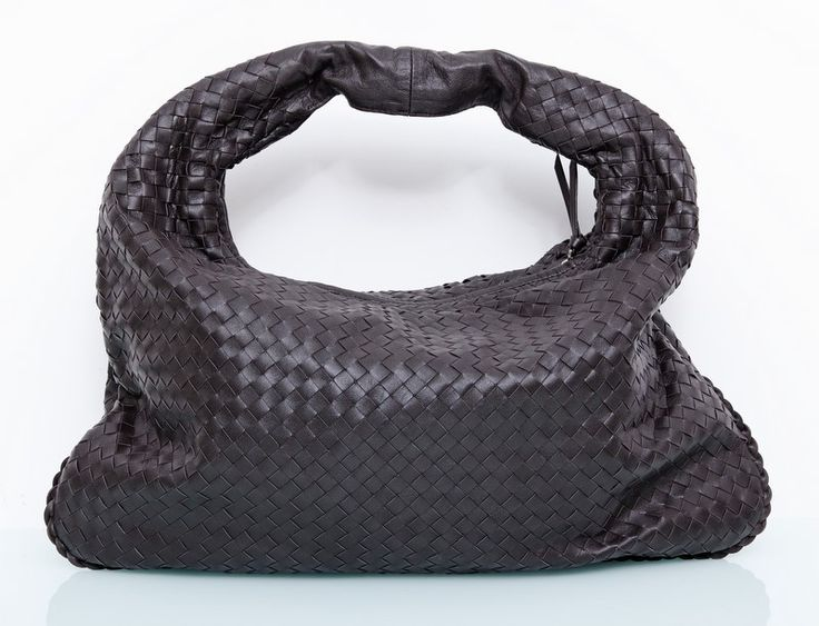 Кожаная сумка Bottega Veneta (боттега венета) Hobo коричневая